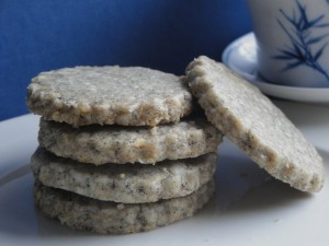 Sesame Peanut Shortbread Cookies