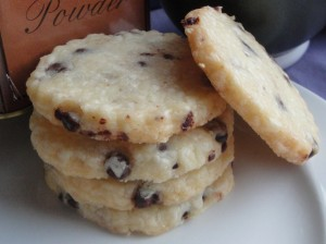 Chocolate Chip Shortbread Cookies