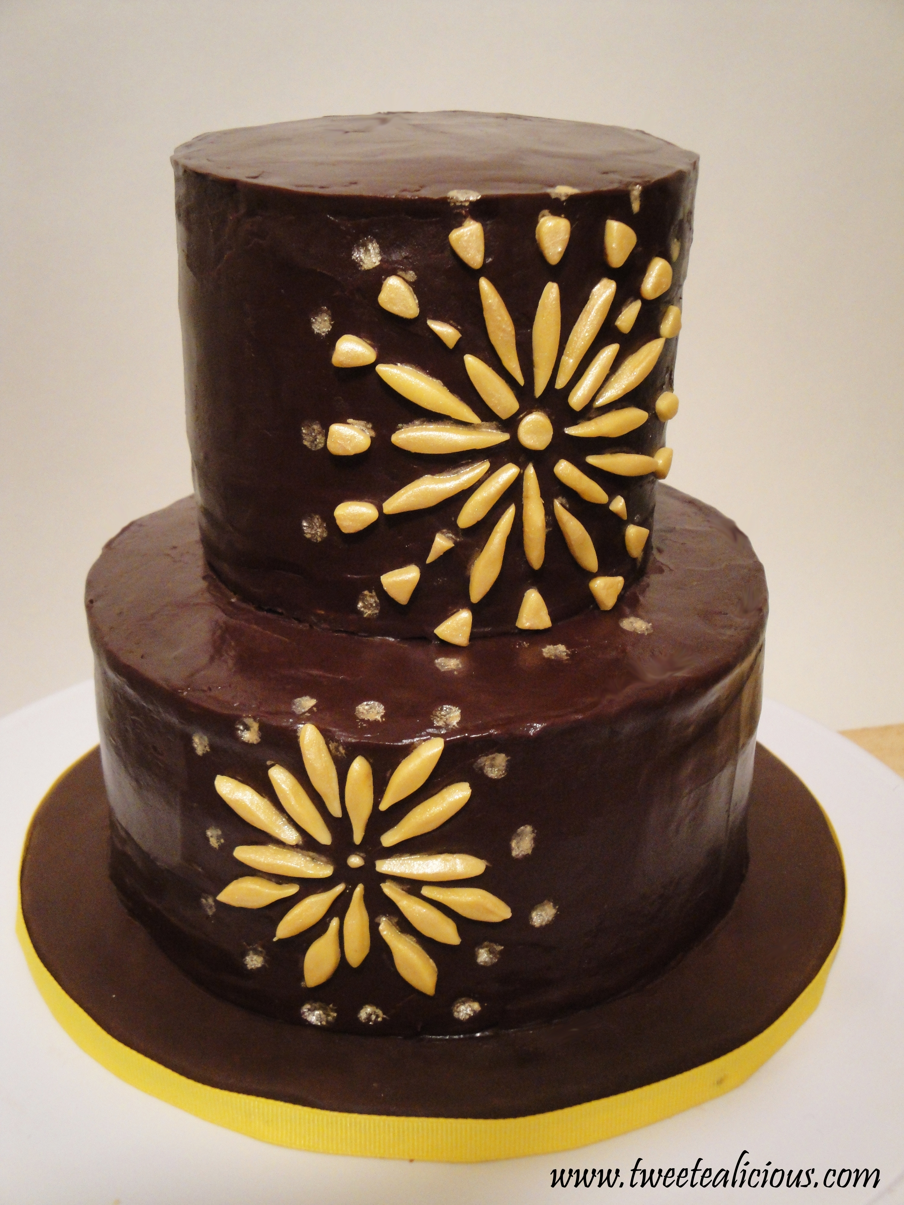 New Year Chocolate Cake Images : New Year s Firework Cake Twee-tea-licious