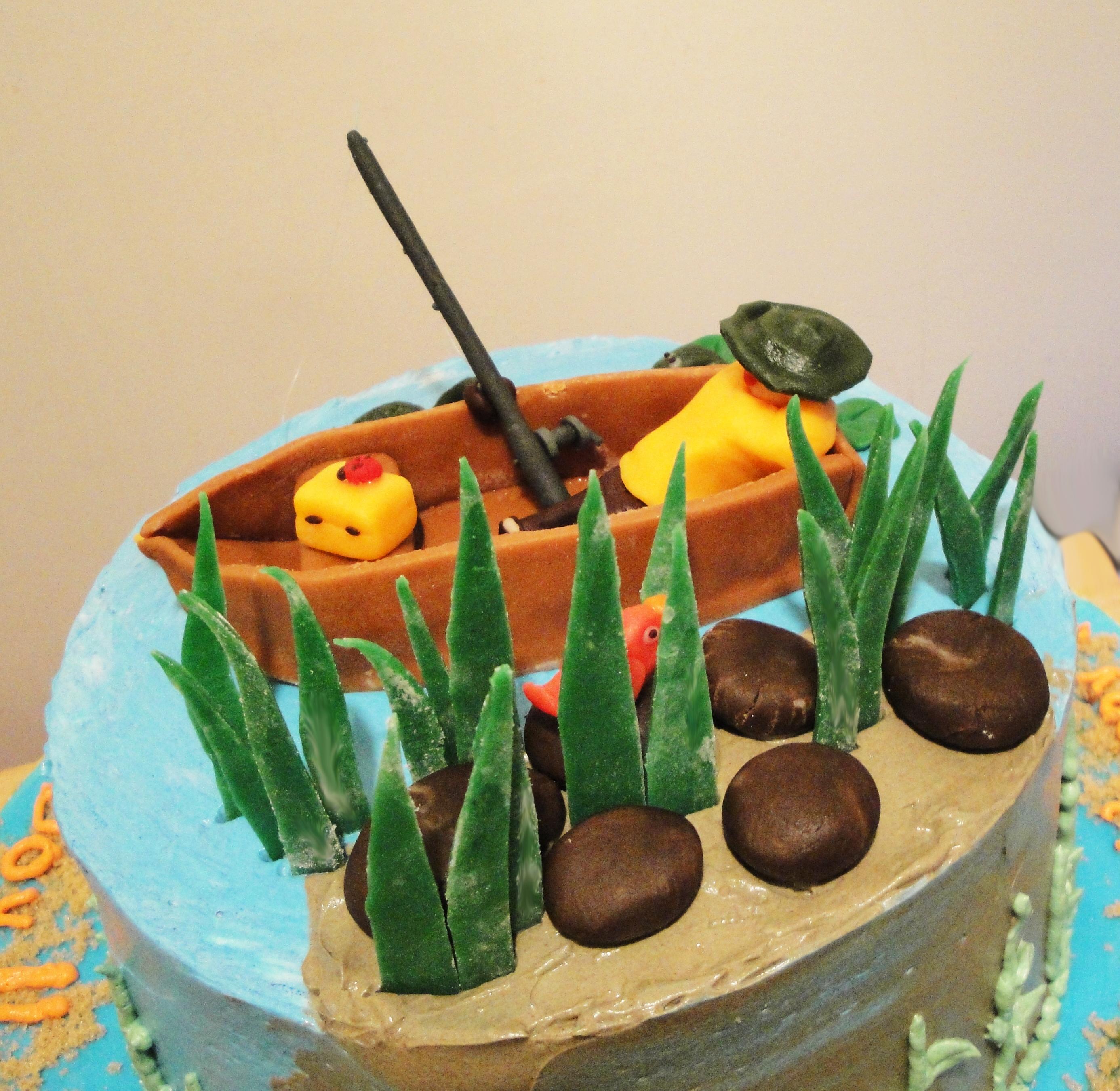 Incredible Gone Fishing Birthday Cake Twee Tea Licious Funny Birthday Cards Online Elaedamsfinfo