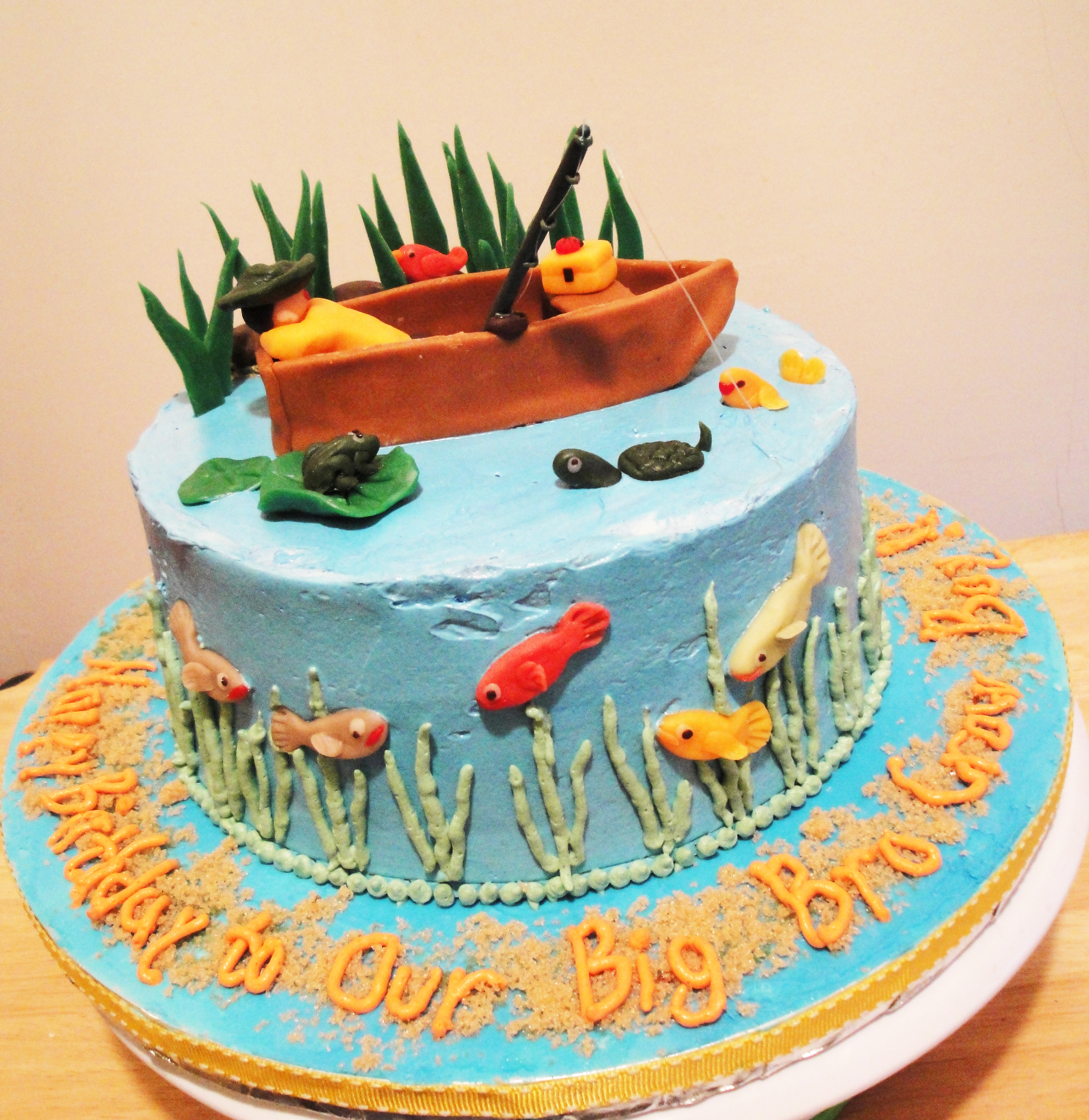 Gone Fishing Birthday Cake Twee Tea Licious