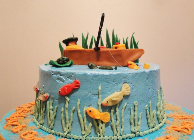 Gone fishing birthday cake twee tea licious for Gone fishing cake