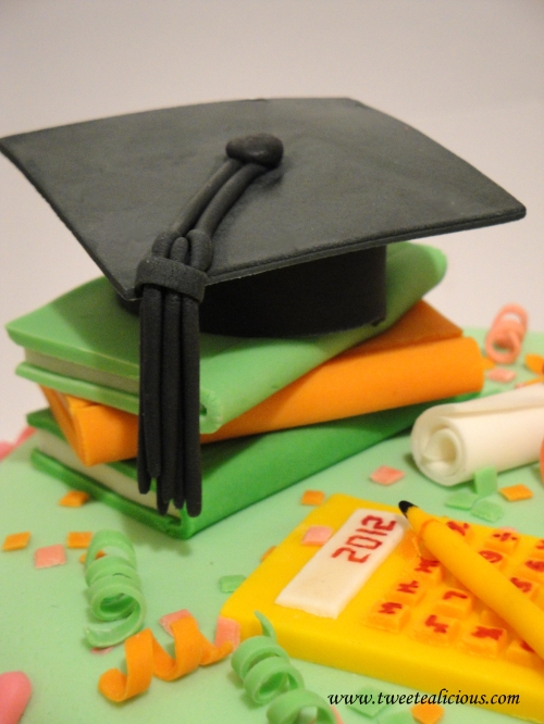 Graduation cake for a new accountant twee tea licious for Accounting graduation cap decoration