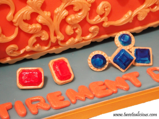 Earrings made with Fondant and Painting with Food Color