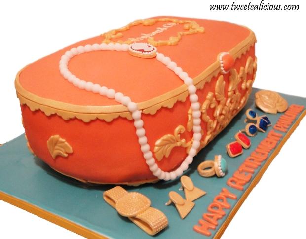 Jewelry Box Cake Side View