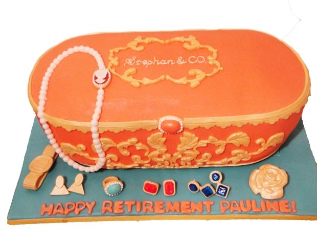Jewelry Box Cake Top View