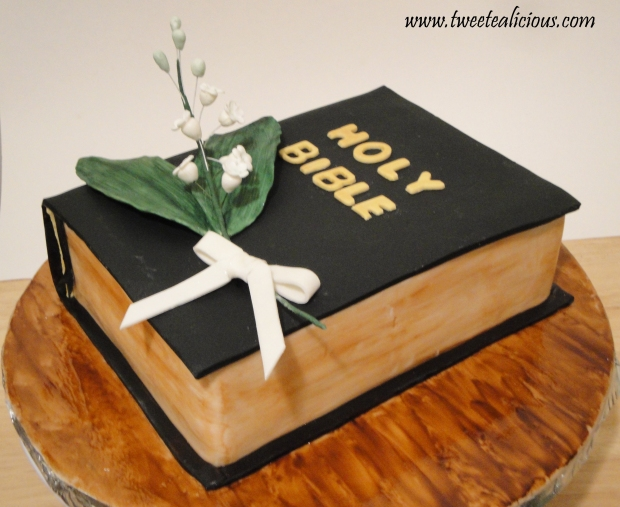 Bible Cake With Lily Of The Valleys Twee Tea Licious