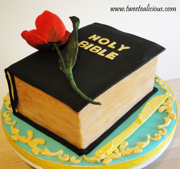 Bible with Rose of Sharon Cake