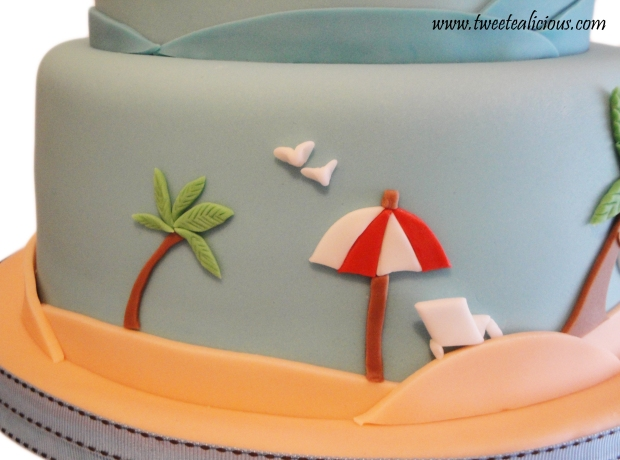 Beach Cake Umbrella