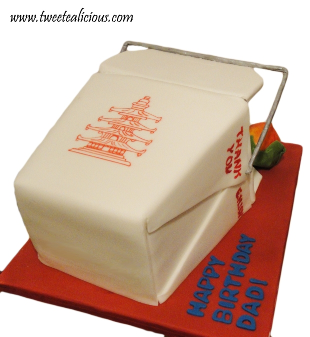 Takeout Box Cake Back